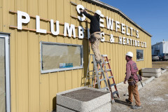 Iconic Shewfelt's sign comes down during our renovations.