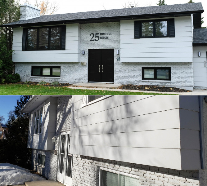 New windows, doors, roof, soffit & fascia and potlights.