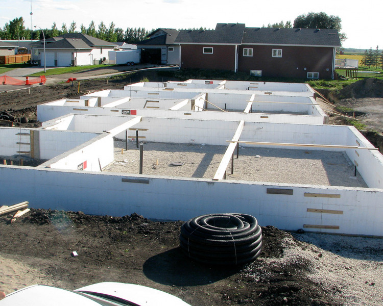 New ICF crawl space foundations.