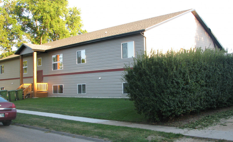 Commercial work built an eight-plex in Portage la Prairie.