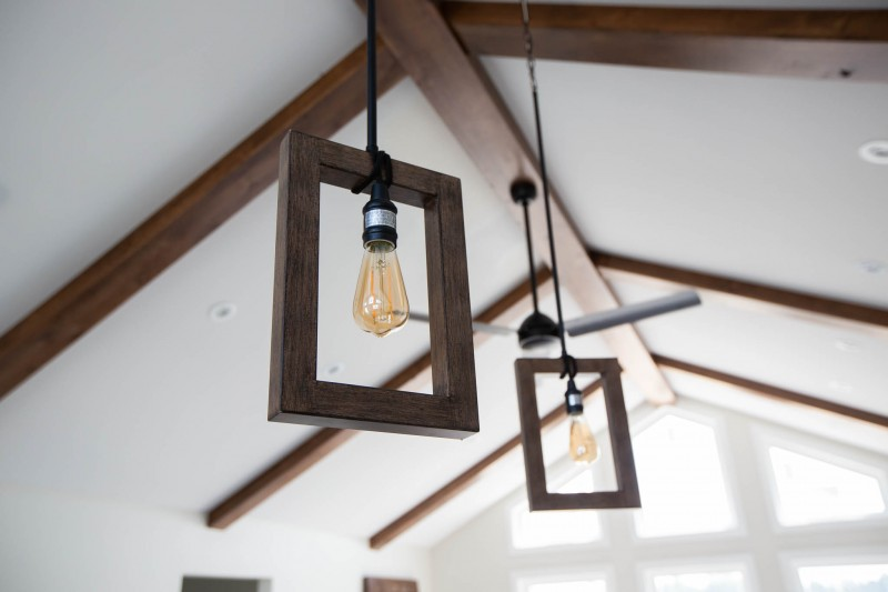 Island pendant lights.
